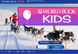 World Book Kids.  Learn about people, places, animals, sports, and more.  Hear text read aloud.