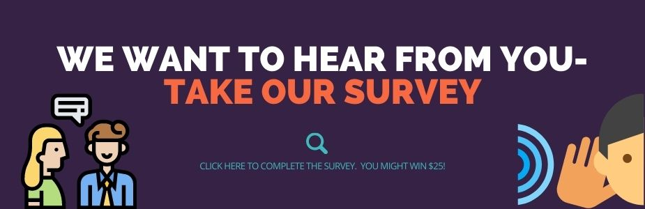 This graphic links to a survey.  We would like you to take the survey so the library can plan for the future.  Call 937-845-3601 for more information.